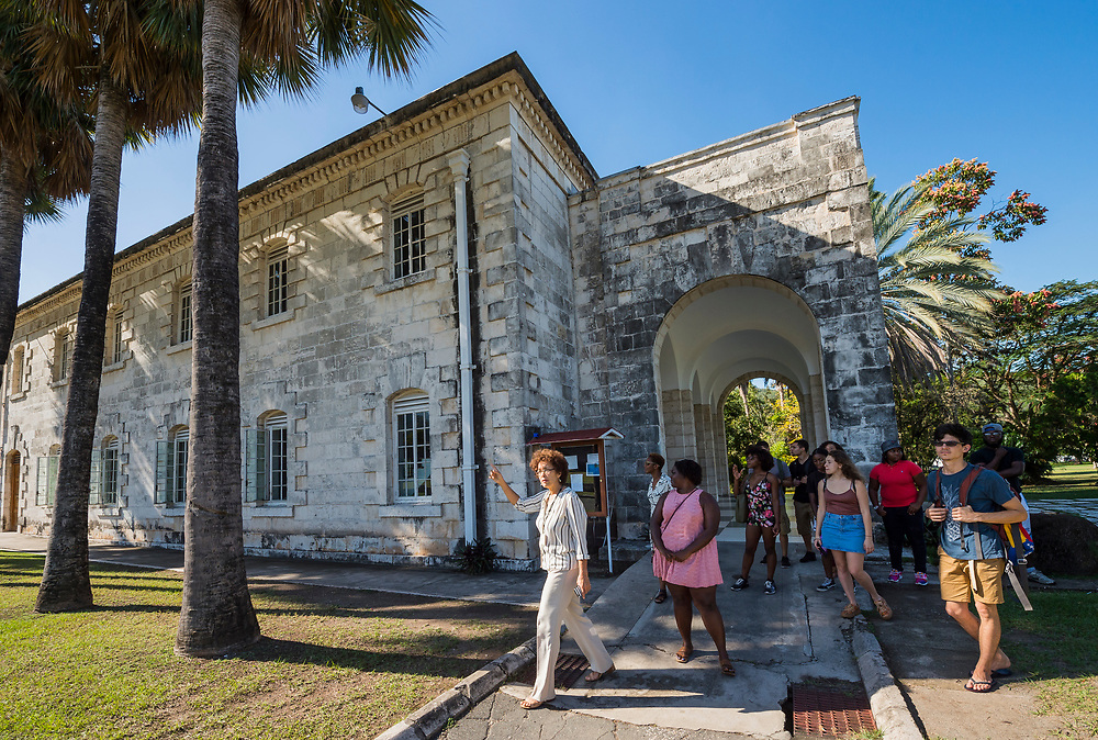 Mark DiOrio / Colgate University<br /> Colgate students take a tour of the University of the West Indies Mona as part of a study abroad program at the University of the West Indies at Mona, Feb. 24, 2017 in Kingston, Jamaica.