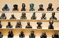 National Gallery, Washington DC. A selection of busts by Honore Daumier