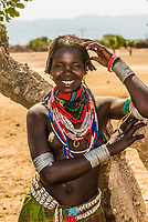 Arbore tribe woman, Omo Valley, Ethiopia.