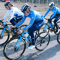 Annemiek van Vleuten, Alba Teruel. 2021 Movistar Team Training Camp, Almería. 10.1.2021.