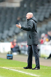 Wigan Athletic Manager, Uwe Rosler gives out instructions - Photo mandatory by-line: Nigel Pitts-Drake/JMP - Tel: Mobile: 07966 386802 14/01/2014 - SPORT - FOOTBALL - Stadium MK - Milton Keynes - MK Dons v Wigan Athletic - FA Cup - Third Round replay