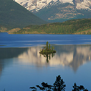 Wild Goose Island on St. Mary's Lake in Glacier National Park, Montana.