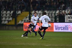November 3, 2018 - Vercelli, Italy - Italian strick Erik Gerbi from Pro Vercelli team playing during Saturday evening's match against Novara Calcio valid for the 10th day of the Italian Lega Pro championship  (Credit Image: © Andrea Diodato/NurPhoto via ZUMA Press)