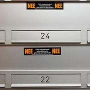 Nederland Rotterdam 9 maart 2008 20080309 .Brievenbussen met JA/ NEE stickers geen ongeadresseerd reclamedrukwerk/ geen huis aan huis bladen.Foto David Rozing/