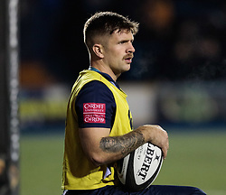 Cardiff Blues' Lewis Jones watches on<br /> <br /> Photographer Simon King/Replay Images<br /> <br /> Guinness Pro14 Round 9 - Cardiff Blues v Connacht Rugby - Friday 24th November 2017 - Cardiff Arms Park - Cardiff<br /> <br /> World Copyright © 2017 Replay Images. All rights reserved. info@replayimages.co.uk - www.replayimages.co.uk