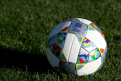 UEFA Nations League practice ball during the training session in Edinburgh.