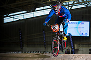 #27 (LABOUNKOVA Romana) CZE at the 2014 UCI BMX Supercross World Cup in Manchester.