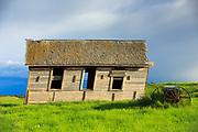 Old schoolhouse, central Montana near Denton.