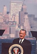 President Lyndon Johnson in New York 1969<br />photo dennis Brack bb72