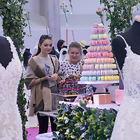 Visitors watch wedding cakes and dresses during Wedding Expo in Budapest, Hungary on Nov. 04, 2017. ATTILA VOLGYI