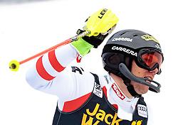 05.03.2017, Podkoren, Kranjska Gora, SLO, FIS Weltcup Ski Alpin, Kranjska Gora, Slalom, Herren, 2. Lauf, im Bild Michael Matt (AUT, 1. Platz) // race winner Michael Matt of Austria reacts after his 2nd run of men's Slalom of FIS ski alpine world cup at the Podkoren in Kranjska Gora, Slovenia on 2017/03/05. EXPA Pictures © 2017, PhotoCredit: EXPA/ Johann Groder