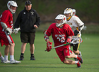 St Paul's School varsity Lacrosse with Tilton School.  ©2016 Karen Bobotas Photographer