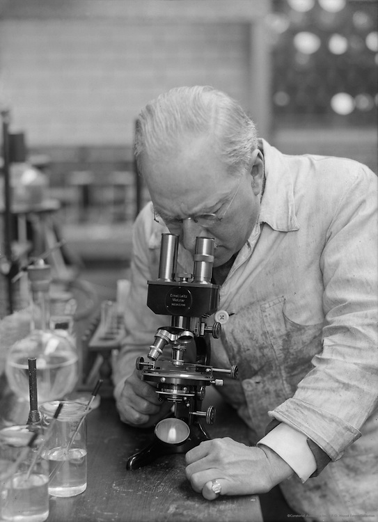 Dr. H.L. Riley, Chemist, In the Research Laboratiry of The Distillers Company, England, 1931