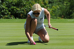 © Licensed to London News Pictures. 01/07/2017. London, UK, Actress and tv personality Denise Van Outen       during The 2017 Celebrity Cup golf tournament at the Celtic Manor Resort, Newport, South Wales. Photo credit: Jeff Thomas/LNP