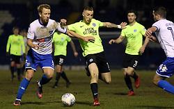 Marcus Maddison of Peterborough United in action with Adam Thompson of Bury - Mandatory by-line: Joe Dent/JMP - 13/03/2018 - FOOTBALL - Gigg Lane - Bury, England - Bury v Peterborough United - Sky Bet League One
