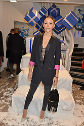 DANIELLE PEAZER at a party to celebrate 'Kitmas' at Kit & Ace at 80-82 Regent Street, London on 9th December 2015.