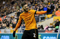 Matt Doherty of Wolverhampton Wanderers protests with the linesman - Mandatory by-line: Dougie Allward/JMP - 14/01/2017 - FOOTBALL - Molineux - Wolverhampton, England - Wolverhampton Wanderers v Aston Villa - Sky Bet Championship