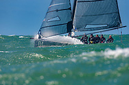 Thorkild Juncker's Cool Runnings at The Needles during the Round the Island Race. Isle of Wight.<br /> Picture date: Saturday July 2, 2016.<br /> Photograph by Christopher Ison ©<br /> 07544044177<br /> chris@christopherison.com<br /> www.christopherison.com