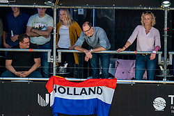 Support spectators during the last day of the beach volleyball event King of the Court at Jaarbeursplein on September 12, 2020 in Utrecht.