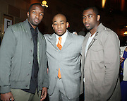 l to r: Jaime Hector, Dennis White and Darelle Revis at The 2009 Fall Baby Phat Fashion Show held at Gotham Hall on February 17, 2009 in New York City.