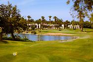 08-10-2015 -  Foto van De par-3 negende rode lus bij Golf du Soleil in Agadir, Marokko. De 36 holes van Golf du Soleil werden ontworpen door Fernando Muela en Gerard Courbin.