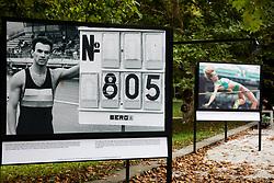Photos of Borut Bilac and Britta Bilac during Opening ceremony of photo exhibition at 100 years Anniversary of Slovenian Athletic Federation, on September 17, 2020 in Tivoli park, Jakopicevo sprehajalisce, Ljubljana, Slovenia. Photo by Vid Ponikvar / Sportida