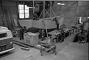 06-10/04/1964.04/06-10/1964.06-10 April 1964.Views on the River Shannon. Boatbuilders at work at K. Line Boats Shannon Harbour Co. Offaly.