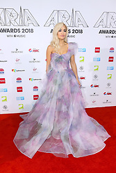 AU_1417480 - Sydney, AUSTRALIA  -  Nicole Kidman and Keith Urban Join Celebrities at the 32nd Annual ARIA Awards 2018 - Red Carpet Arrivals<br /> <br /> Pictured: Rita Ora<br /> <br /> BACKGRID Australia 28 NOVEMBER 2018 <br /> <br /> BYLINE MUST READ: Brandon Voight / BACKGRID<br /> <br /> Phone: + 61 2 8719 0598<br /> Email:  photos@backgrid.com.au