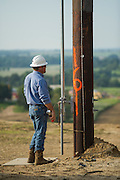 Work on high voltage transmission line with Western Farmers Electric Coop near Cromwell, OK