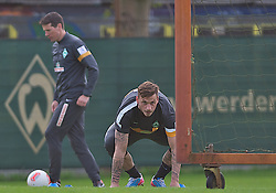 30.04.2013, Weserstadion, Bremen, GER, 1.FBL, Training SV Werder Bremen, im Bild Marko Arnautovic (SV Werder Bremen #7) beim individuellen Training mit Reinhard Schnittker (Athletiktrainer SV Werder Bremen) // during the training session of the German Bundesliga Club SV Werder Bremen at the Weserstadion, Bremen, Germany on 2013/04/30 . EXPA Pictures © 2013, PhotoCredit: EXPA/ Andreas Gumz ..***** ATTENTION - OUT OF GER *****