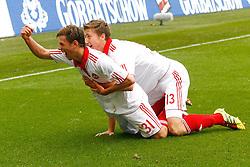 14.05.2011, AWD Arena, Hannover, GER, 1.FBL, Hannover 96 vs 1.FC Nuernberg, im Bild Torjubel vom Torschuetzen zum 1:0 Julian Wie?meier (Nuernberg #31) und Jens Hegeler (Nuernberg #13) .EXPA Pictures © 2011, PhotoCredit: EXPA/ nph/  Schrader       ****** out of GER / SWE / CRO  / BEL ******
