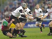 Photo Peter Spurrier<br /> email images@sportsbeat.co.uk<br /> Zurich Premiership Rugby - Harlequins v Saracens<br /> Quins Jason Leonard tackles Kris Chesney as he lppks for support,