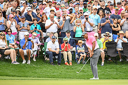 May 5, 2018 - Charlotte, NC, U.S. - CHARLOTTE, NC - MAY 05: Tiger Woods chips to the green during the 3rd round of the Wells Fargo Championship on May 05, 2018 at Quail Hollow Club in Charlotte, NC. (Photo by William Howard/Icon Sportswire) (Credit Image: © William Howard/Icon SMI via ZUMA Press)