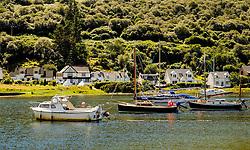 Yachts anchored off Lochranza, Isle of Arran, Scotland<br /> <br /> (c) Andrew Wilson   Edinburgh Elite media