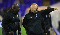 Birmingham City's caretaker manager Lee Carsley (right) and coach Paul Williams