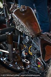 Trailer Trash Choppers Shaun Ponce's Harley-Davidson Evo chopper at the Cycle Source bike show at the Broken Spoke Saloon during Daytona Beach Bike Week. FL. USA. Tuesday, March 14, 2017. Photography ©2017 Michael Lichter.