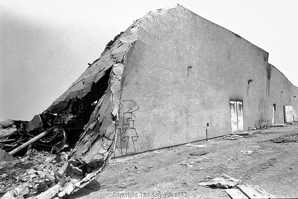 A grocery store that was looted and burned to the ground on South Vermont Ave. and 36 street.<br /> <br /> 25 before and after LA92 photo project.