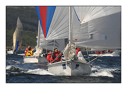 Sailing - The 2007 Bell Lawrie Scottish Series hosted by the Clyde Cruising Club, Tarbert, Loch Fyne..Brilliant first days conditions for racing across the three fleets...Sportboat 1, 1720 Buddy Ell 1777L.