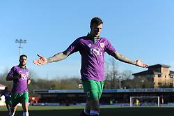Bristol City's Aden Flint celebrates his goal. - Photo mandatory by-line: Dougie Allward/JMP - Mobile: 07966 386802 - 07/03/2015 - SPORT - Football - Crawley - Broadfield Stadium - Crawley Town v Bristol City - Sky Bet League One