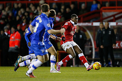 Jay Emmanuel-Thomas of Bristol City crosses the ball as Gillingham players ruh back - Photo mandatory by-line: Rogan Thomson/JMP - 07966 386802 - 29/01/2015 - SPORT - FOOTBALL - Bristol, England - Ashton Gate Stadium - Bristol City v Gillingham - Johnstone's Paint Trophy Southern Area Final Second Leg.