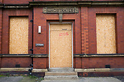 A boarded up and closed down magistrates court, Whitley Bay,  Northumberland. UK.