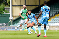 Dominic Bernard (3) of Forest Green Rovers on the attack during the Pre-Season Friendly match between Yeovil Town and Forest Green Rovers at Huish Park, Yeovil, England on 31 July 2021.