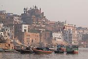 The banks of the river Ganges in the city of Varanasi, Uttar Pradesh, India