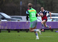 Mat Protheroe of Bristol Bears United charges down the wing - Mandatory by-line: Paul Knight/JMP - 02/12/2018 - RUGBY - Clifton RFC - Bristol, England - Bristol Bears United v Harlequins - Premiership Rugby Shield