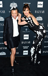 Model Carol Alt (R) attends the Harper's Bazaar Icons by Carine Roitfeld celebration at The Plaza Hotel in New York, NY on September 8, 2017.  (Photo by Stephen Smith/SIPA USA)