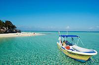 Mexique, Etat de Quintana Roo, Riviera Maya, ile de Isla Mujeres, plage de Playa norte // Mexico, Quintana Roo state, riviera maya, Isla Mujeres island, Playa norte beach