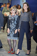 Queen Letizia of Spain attends 'Media and Mental Health' meeting at EFE Agency headquarters on April 3, 2019 in Madrid, Spain