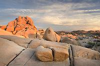 Sunrise over Jumbo Rocks area of Joshua Tree National Park California
