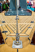 A classic Tofinous day boat based on a modern hull. The CWM FX London Boat Show, taking place 09-18 January 2015 at the ExCel Centre, Docklands, London. 09 Jan 2015.