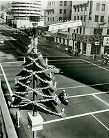 1963 Christmas decorations on Hollywood Blvd.